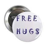 """Free Hugs 2.25"""" Button (10 pack)"""