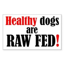 Healthy dogs - Rectangle Decal
