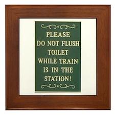 Train Fans Framed Toilet Room Tile