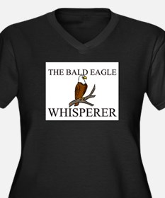 The Bald Eagle Whisperer Women's Plus Size V-Neck