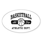 Basketball Oval Sticker (10 pk)