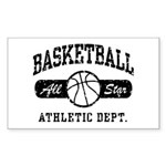 Basketball Rectangle Sticker 10 pk)