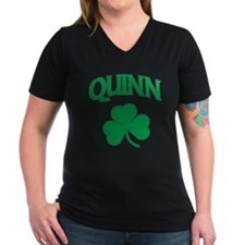 Quinn Irish Women's V-Neck Dark T-Shirt