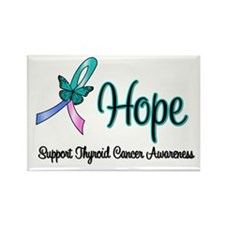 Thyroid Cancer Hope Rectangle Magnet