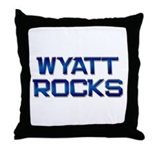 wyatt rocks Throw Pillow
