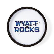 wyatt rocks Wall Clock