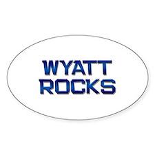 wyatt rocks Oval Decal
