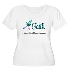 Thyroid Cancer Faith T-Shirt