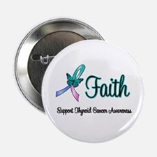 "Thyroid Cancer Faith 2.25"" Button"