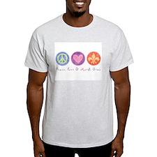 Peace Love & Mardi Gras T-Shirt