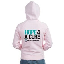 Thyroid Cancer Hope Cure Zip Hoodie