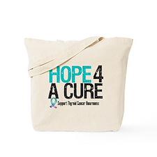 Thyroid Cancer Hope Cure Tote Bag