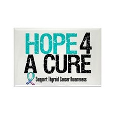 Thyroid Cancer Hope Cure Rectangle Magnet