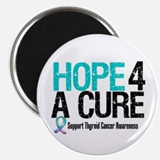 "Thyroid Cancer Hope Cure 2.25"" Magnet (10 pack)"