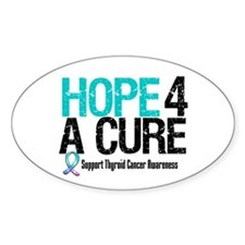 Thyroid Cancer Hope Cure Oval Decal