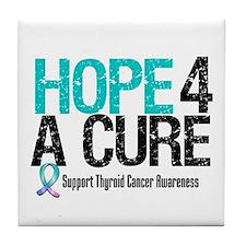 Thyroid Cancer Hope Cure Tile Coaster