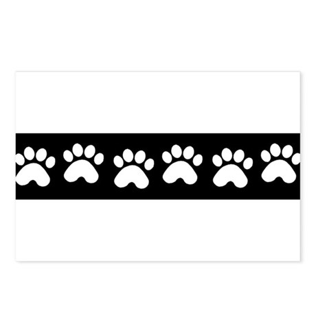 Paw Prints Postcards (Package of 8)