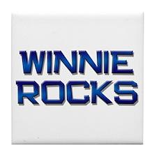 winnie rocks Tile Coaster