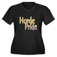 Horde Pride Women's Plus Size V-Neck Dark T-Shirt