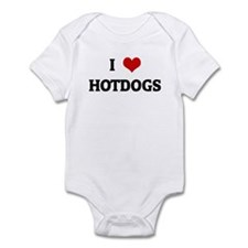 I Love HOTDOGS Infant Bodysuit