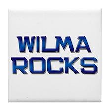 wilma rocks Tile Coaster