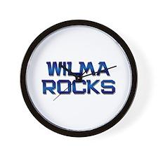 wilma rocks Wall Clock