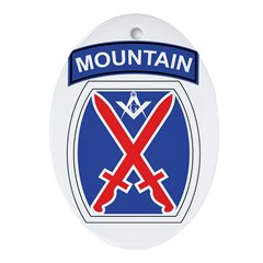 10th mountain division Mason Oval Ornament
