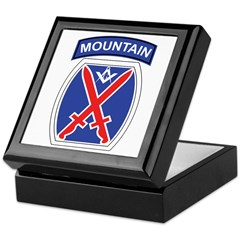 10th mountain division Mason Keepsake Box