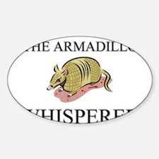 The Armadillo Whisperer Oval Decal