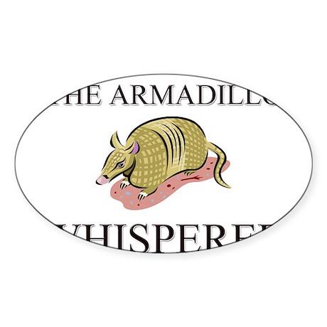 The Armadillo Whisperer Oval Sticker