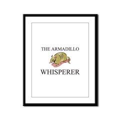 The Armadillo Whisperer Framed Panel Print