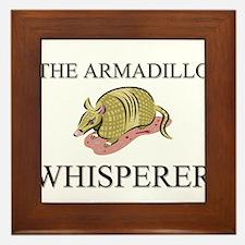 The Armadillo Whisperer Framed Tile