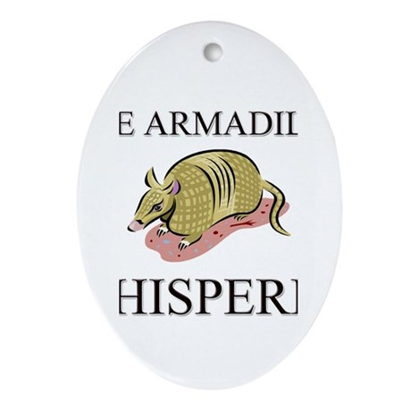 The Armadillo Whisperer Oval Ornament