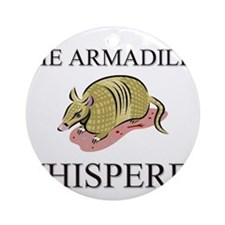 The Armadillo Whisperer Ornament (Round)