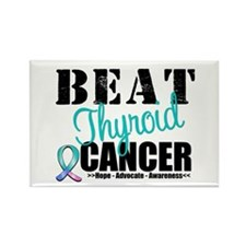 Beat Thyroid Cancer Rectangle Magnet