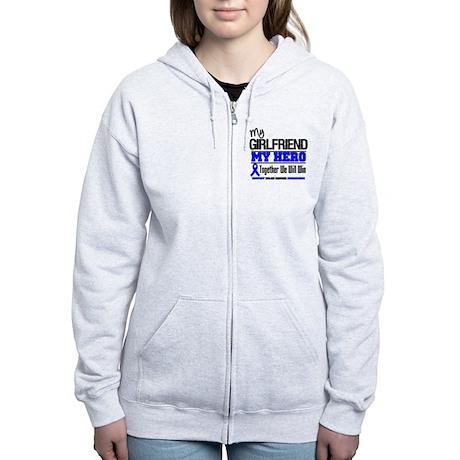 ColonCancer Girlfriend Women's Zip Hoodie
