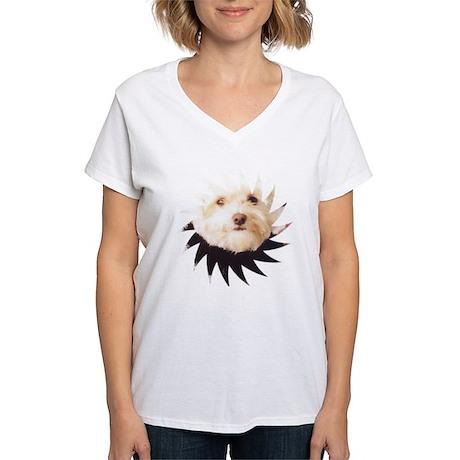 Women's V-Neck Maltese T-Shirt