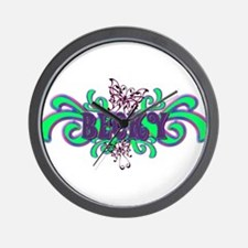 Becky's Butterfly Name Wall Clock