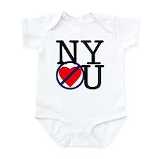 NY Don't Love You Infant Bodysuit