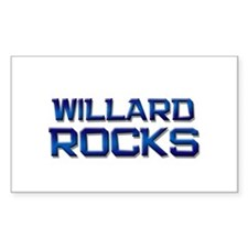 willard rocks Rectangle Decal