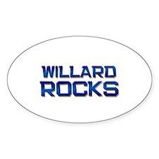 willard rocks Oval Decal