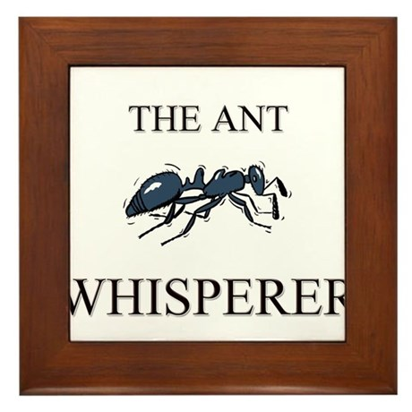 The Ant Whisperer Framed Tile