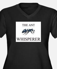 The Ant Whisperer Women's Plus Size V-Neck Dark T-