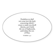 NUMBERS 14:30 Oval Decal