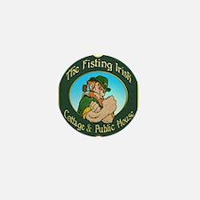 Fisting Irish Mini Button