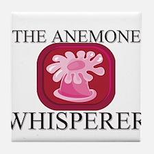 The Anemone Whisperer Tile Coaster