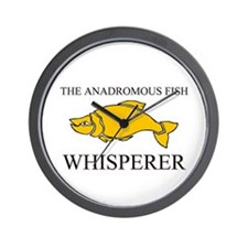 The Anadromous Fish Whisperer Wall Clock