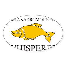 The Anadromous Fish Whisperer Oval Sticker