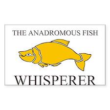 The Anadromous Fish Whisperer Rectangle Sticker