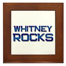 whitney rocks Framed Tile
